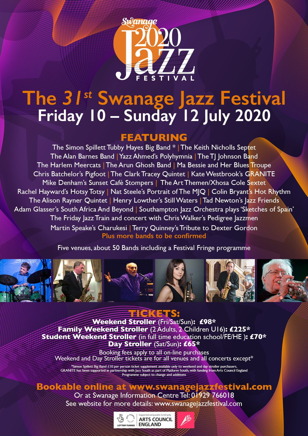 Swanage Jazz Festival 2020 Programme